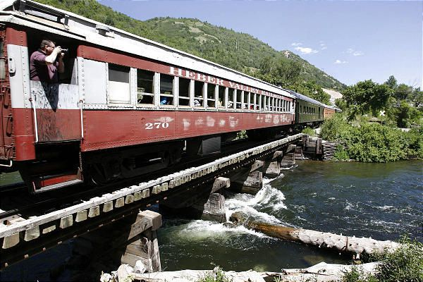 The Heber Valley railroad has preserved the past by carrying passengers in these steam-powered trains.