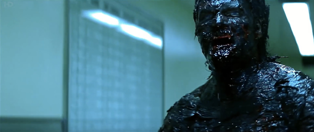 Screenshot of Quinn  with his body charred and black