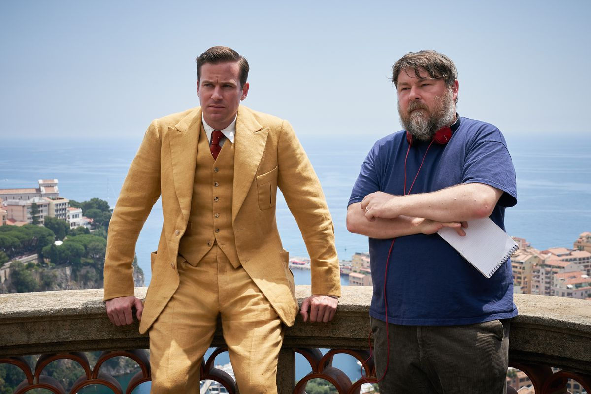 Armie Hammer and director Ben Wheatley on the southern france set of Rebecca