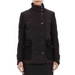 "<b>Derek Lam</b> down jacket, <a href=""http://www.barneyswarehouse.com/derek-lam-combo-down-filled-jacket-503385643.html?index=24&cgid=clearance-whswclothing"">$344.50</a>"
