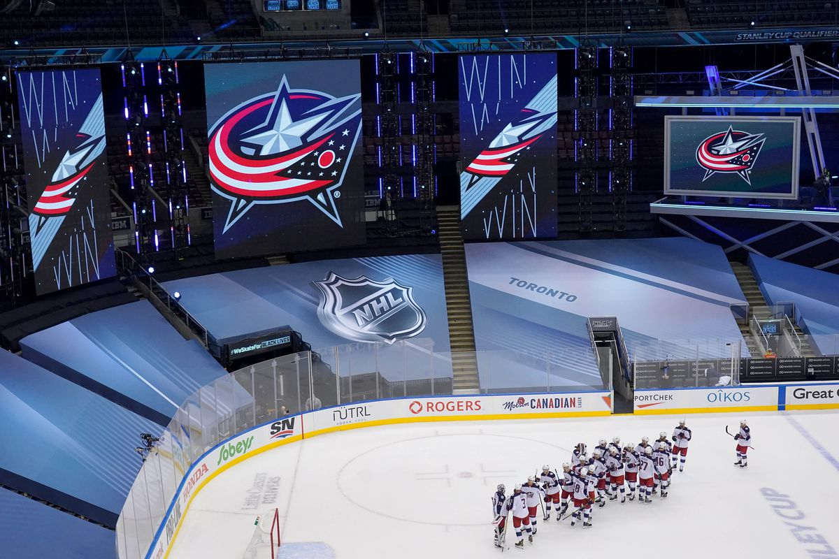 NHL: Eastern Conference Qualifications-Columbus Blue Jackets vs Toronto Maple Leafs