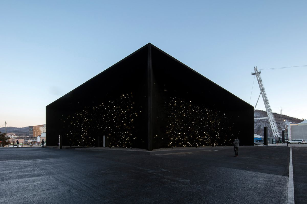 2018 Winter Olympics Pavilion Is Coated In The World S Darkest