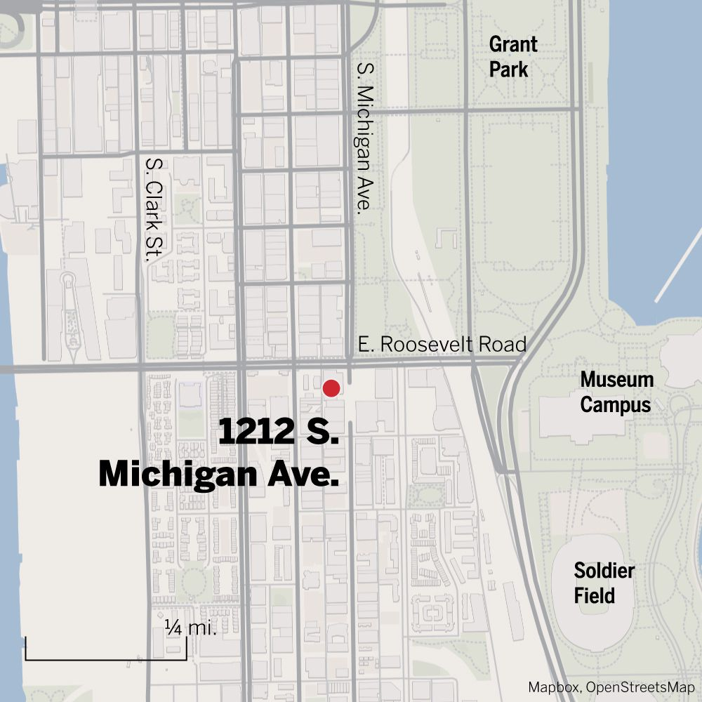Map of 1212 S. Michigan