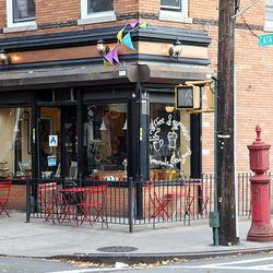 """<b>↑</b>Starving after that step class? Lovingly baked treats and savory dishes await at <b><a href="""" http://www.cafenormas.com/"""">Norma's</a></b> (59-02 Catalpa Avenue), a cozy neighborhood spot. Order a strong, delicious coffee and dig into a fresh break"""