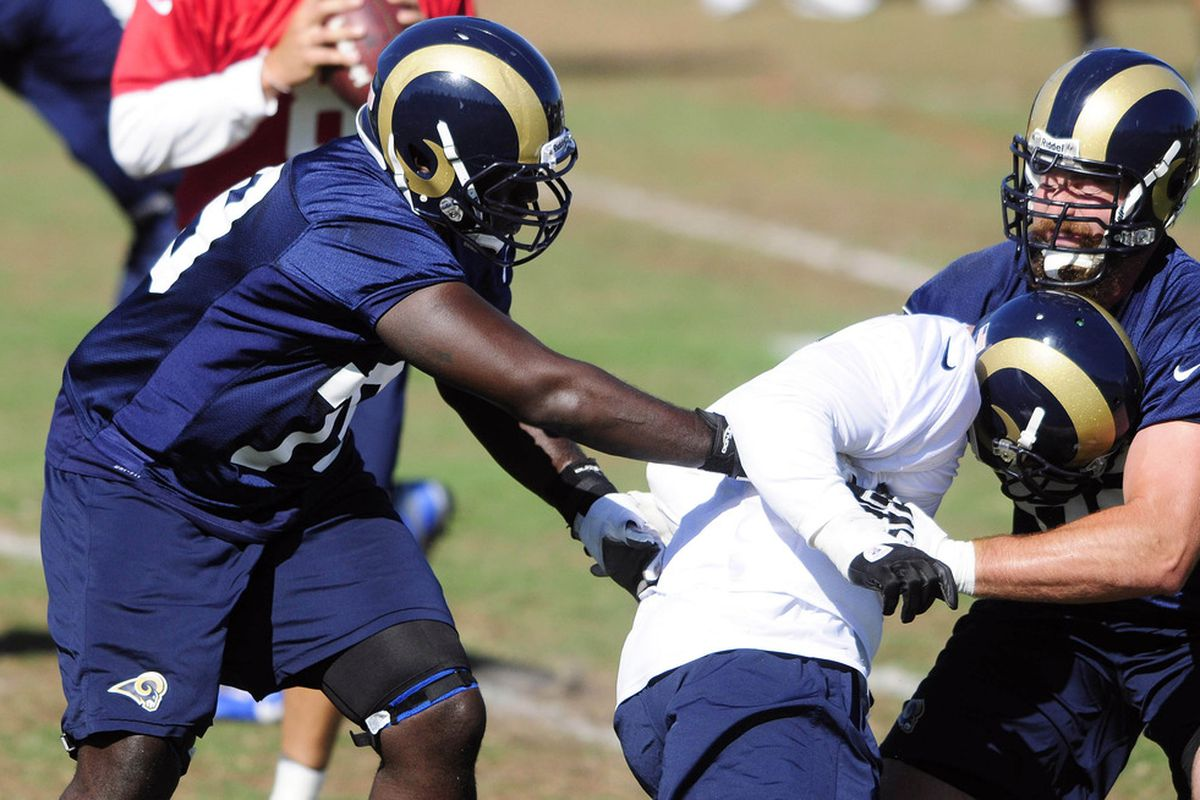 June 12 2017 St Louis Mo Usa Rams Tackle Barry Richardson 79 Defends Against Defensive End Chris Long 91 During Minicamp At Continuityx
