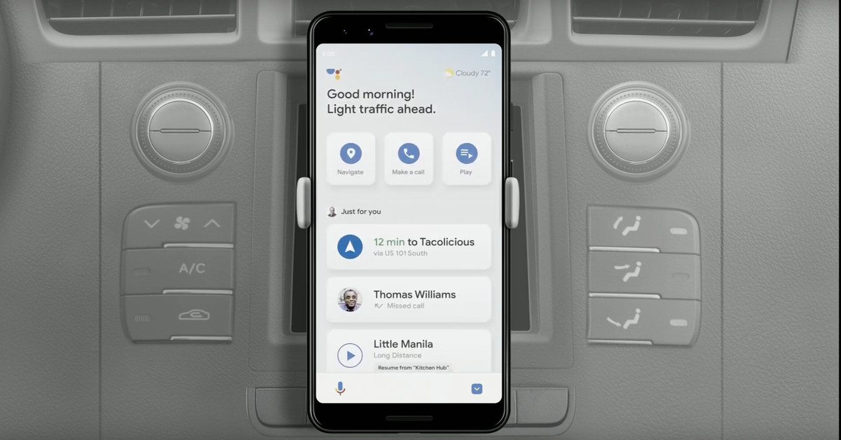 Google Assistant Driving Mode appears to be coming to Android at last – The Verge