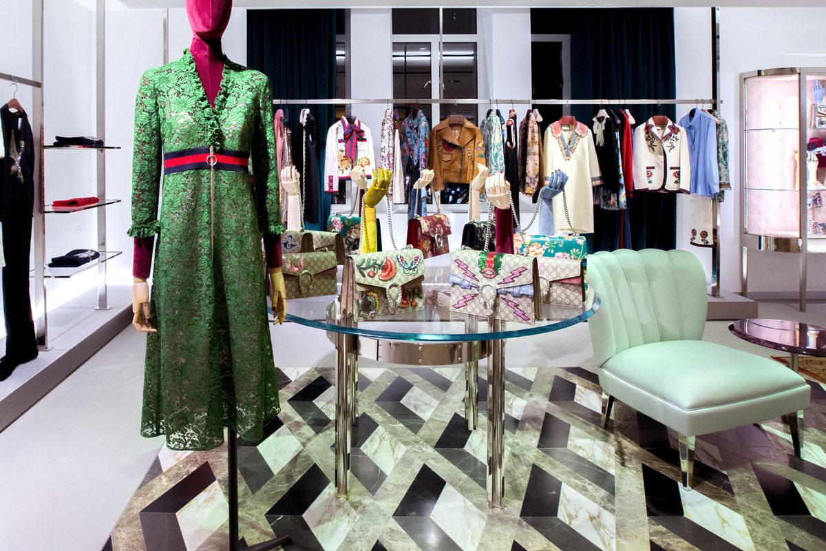 Gucci Let Alessandro Michele Loose In Bergdorf Goodman