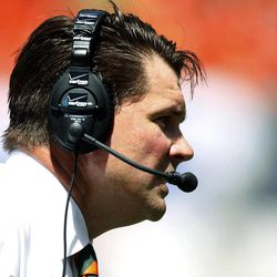 Miami head coach Al Golden watches from the sideline in the first half of an NCAA college football game against Bethune-Cookman, Saturday Sept. 15, 2012, in Miami.