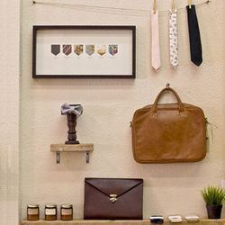 """If you're strolling through Westwood with a guy pal or in you're in need of some sleek travel goods, pay a visit to Clark & Madison (10918 Kinross Ave). Find men's basics from LA-based brand <a href=""""http://la.racked.com/archives/2013/08/08/la_mens_line_g"""