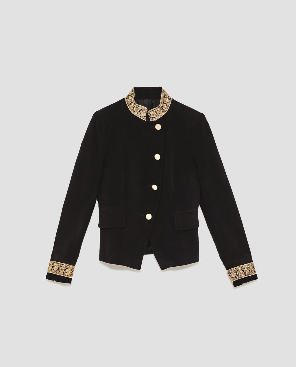 A velvet embroidered blazer