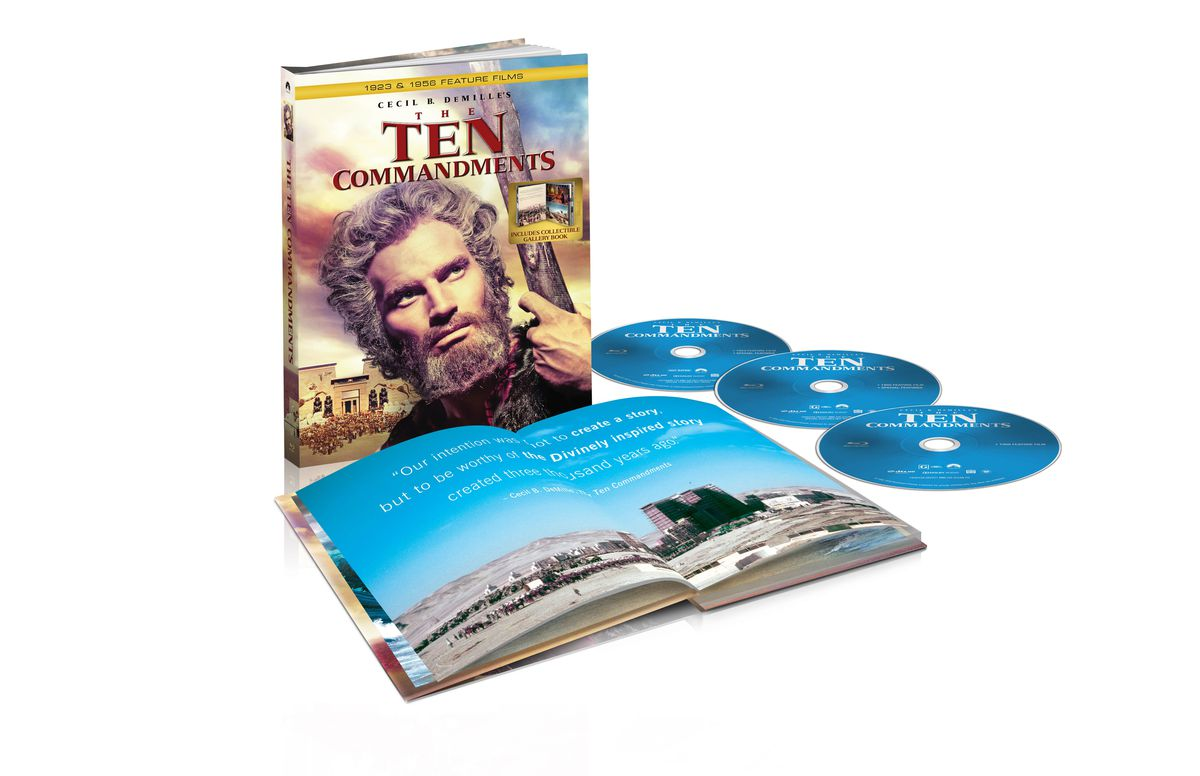 """""""The Ten Commandments"""" has been released in a new, fully restored Blu-rayDigibook."""
