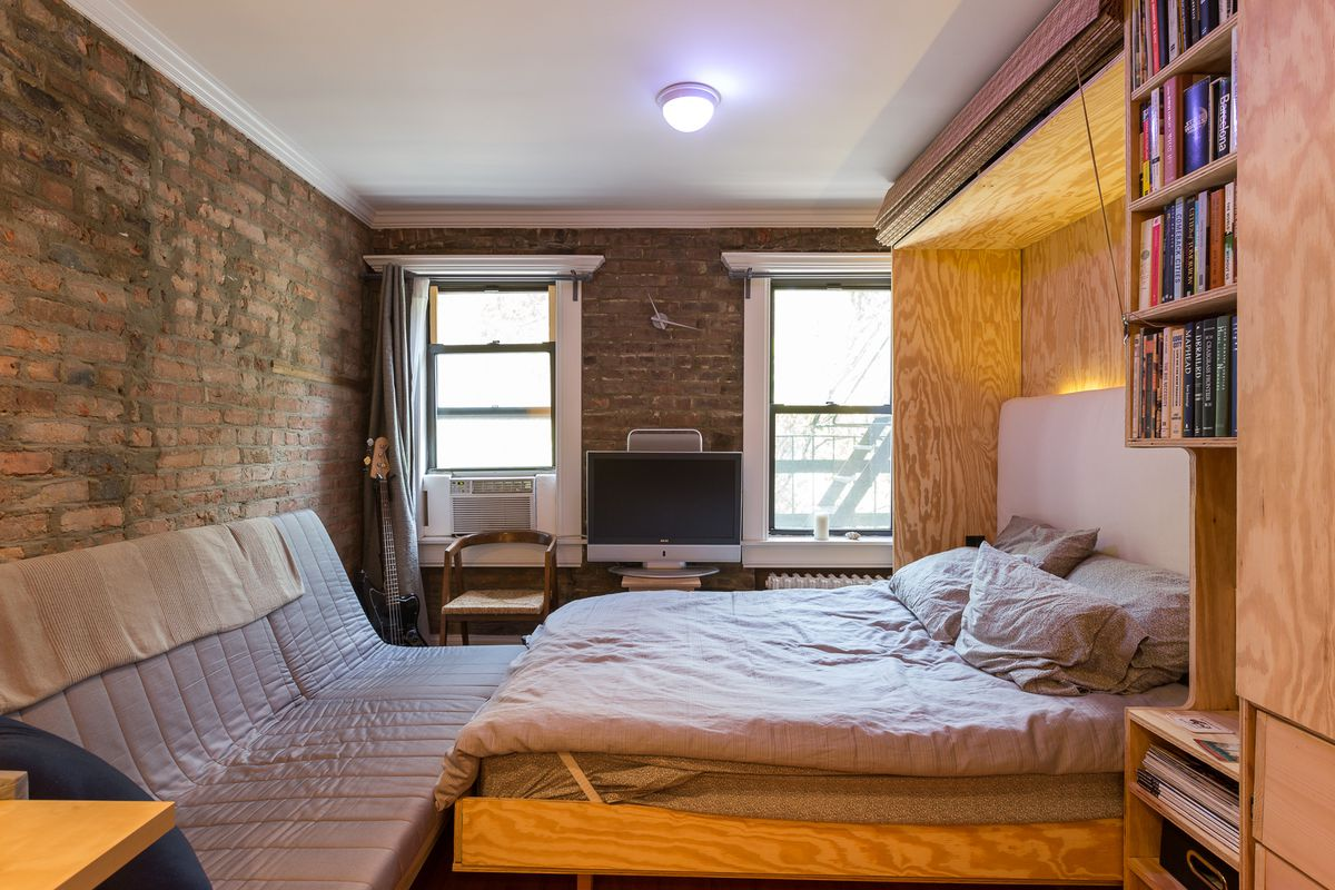 Inside a transforming 225 square foot east village studio for 110 square feet room