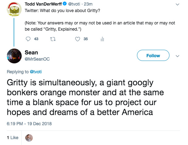 Gritty's evolution from mascot to meme to leftist avatar