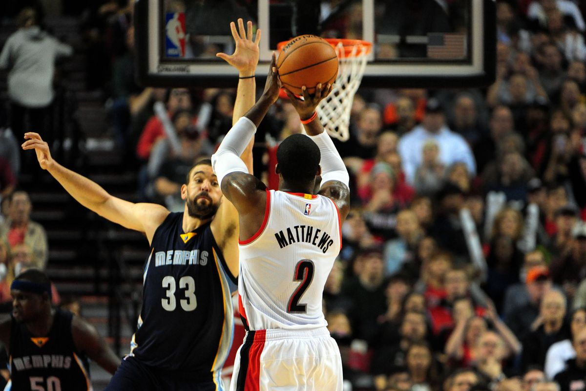 Defending the likes of Matthews will be key for Memphis in Portland tonight.