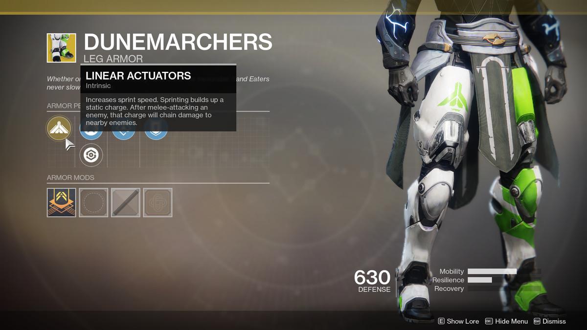 Dunemarchers Exotic Destiny 2