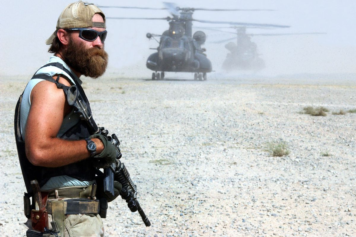 """A US special forces operator, nicknamed """"Cowboy,"""" in Afghanistan."""