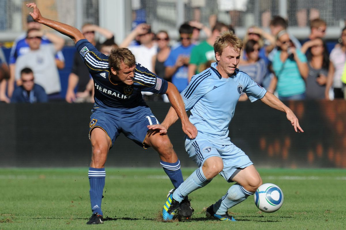 The Montreal Impact selected Sporting KC left back Seth Sinovic in the final round of the 2011 MLS Expansion Draft.   (Photo by Peter Aiken/Getty Images)