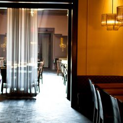 A glimpse at the restaurant's interior.