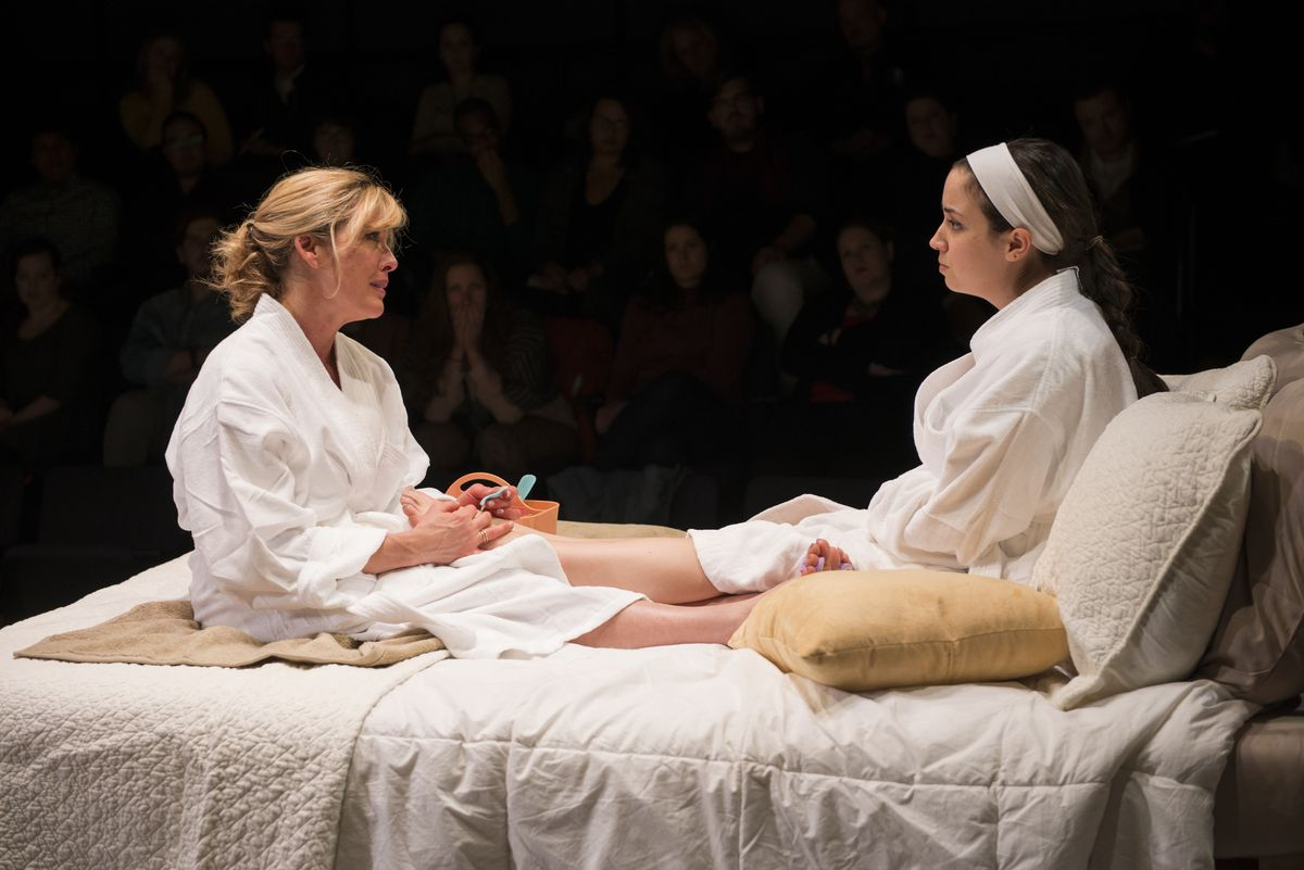 """Lia Mortensen (left) and Hayley Burgess play a mother and daughter in """"The Mystery of Love & Sex."""" 