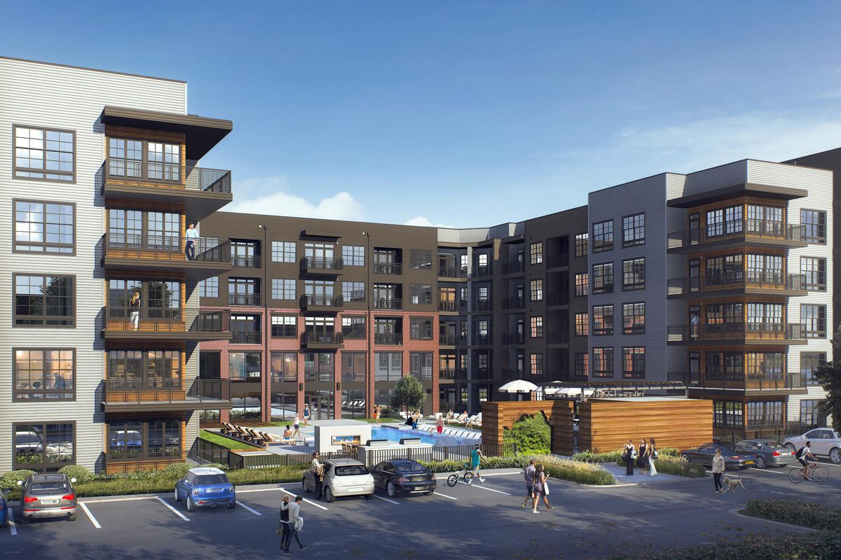a rendering of Vue at the Quarter