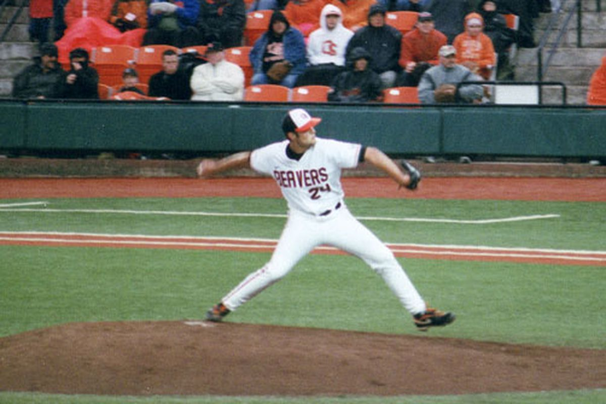 With normal #2 starter Josh Osich out for the weekend, head coach Pat Casey might turn to Scott Schultz, above, to get the start for Oregon State. (Photo by RVM)