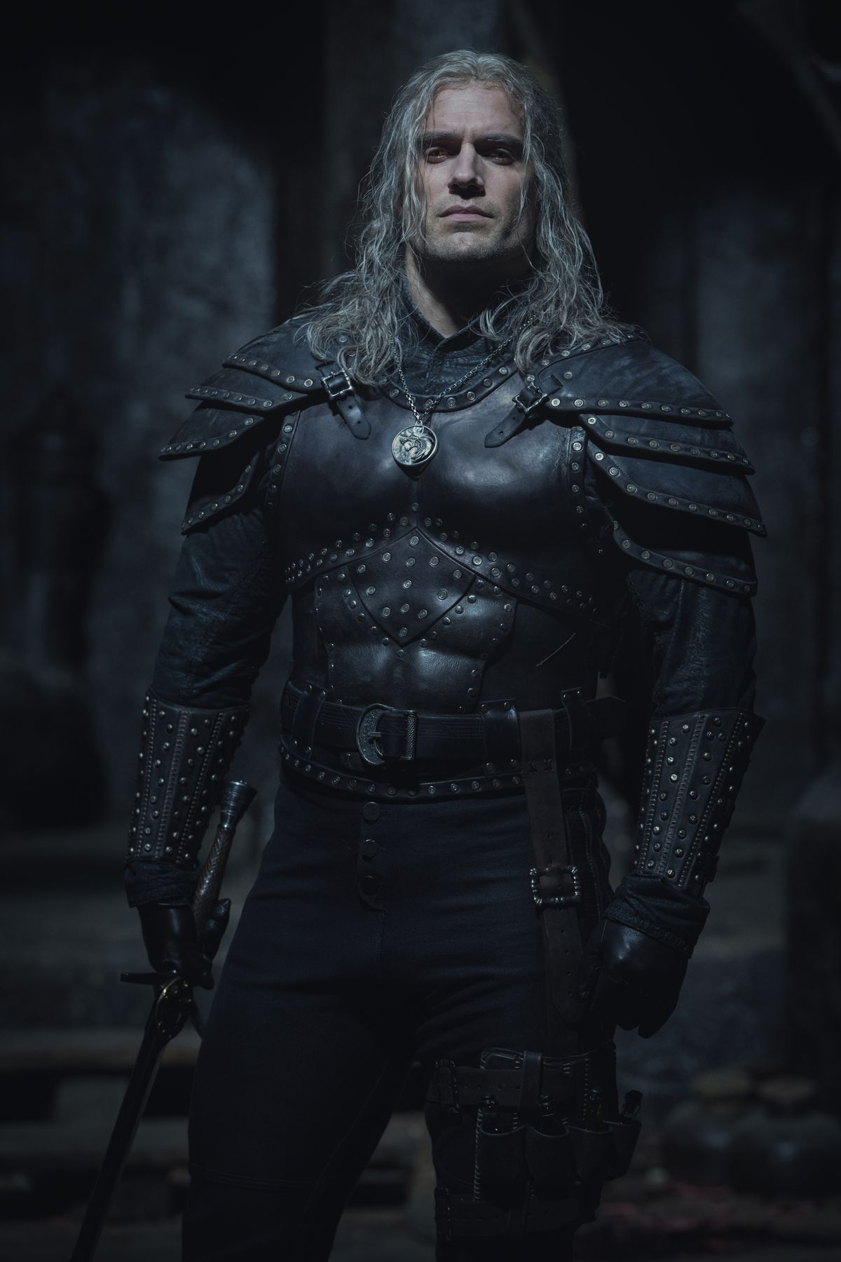 Cavill as Geralt in The Witcher season 2 armor