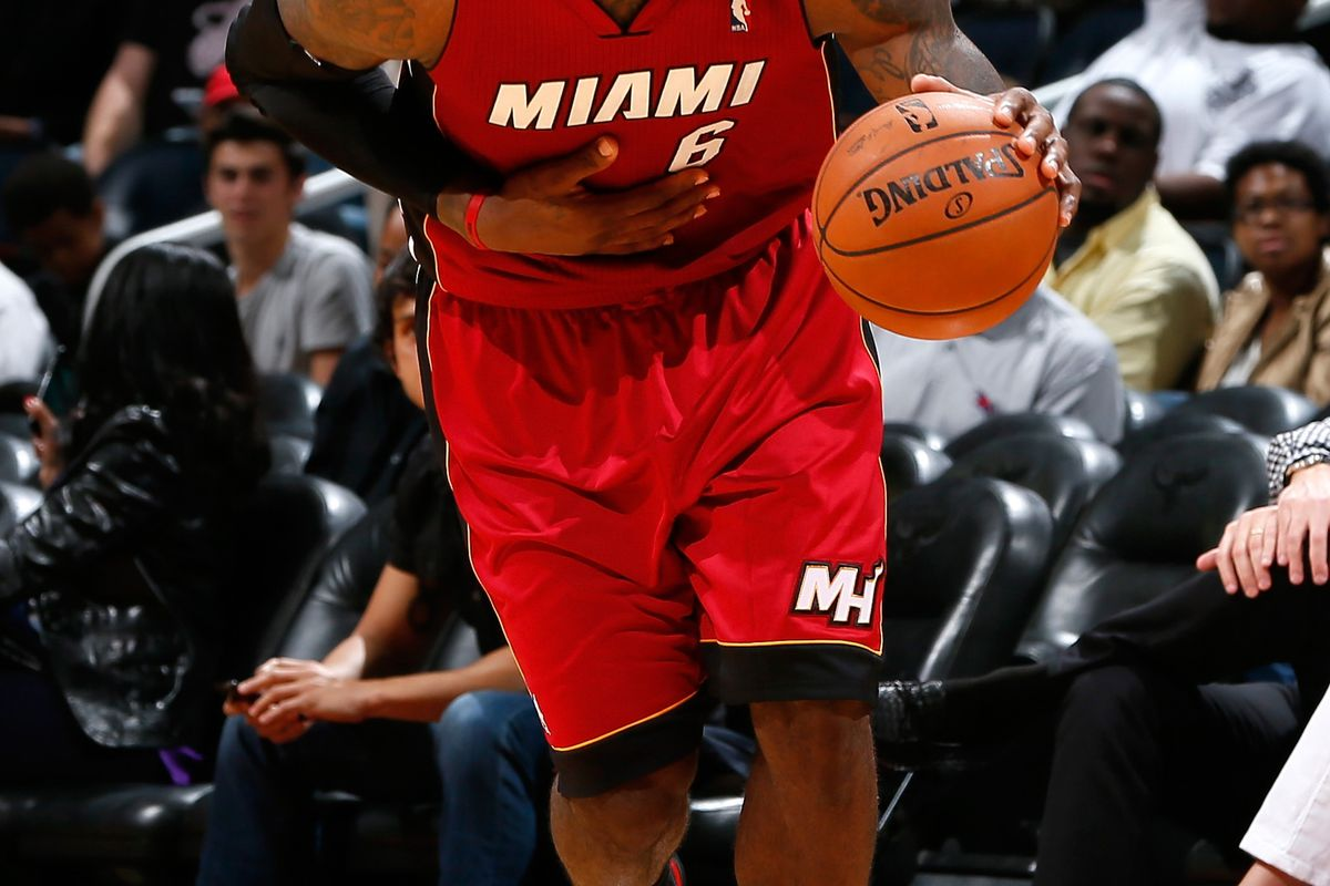 LeBron will look to lead the Heat to it's second preseason win
