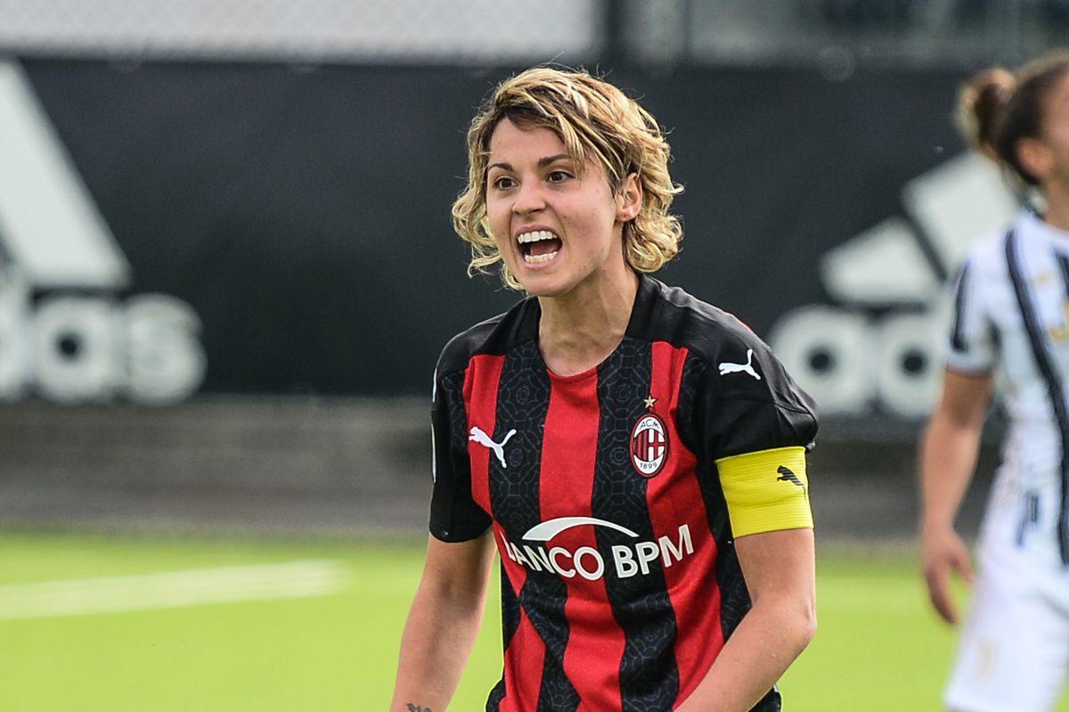 Valentina Giacinti of AC Milan Women disappointment during...