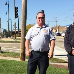 Fox River Grove Fire Protection District Chief Bob Kreher, left, and his brother, Barrington Countryside Fire Protection District Chief Jim Kreher. Both were with Fox River Grove fire back in 1995. The fire house is less than a block away from the crash site.