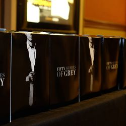Fifty Shades-themed popcorn, of course.