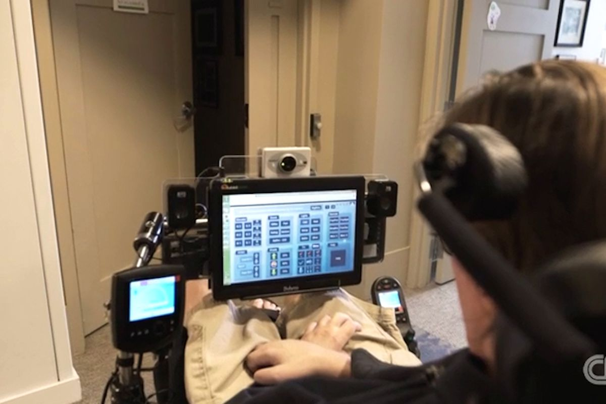 nursing home with automated system that responds to eye movements