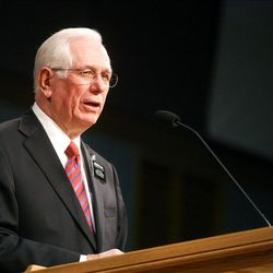 Provo MTC President Gordon D. Brown speaks at the Christmas Morning Devotional at the Missionary Training Center in Provo on Tuesday, Dec. 25, 2012.
