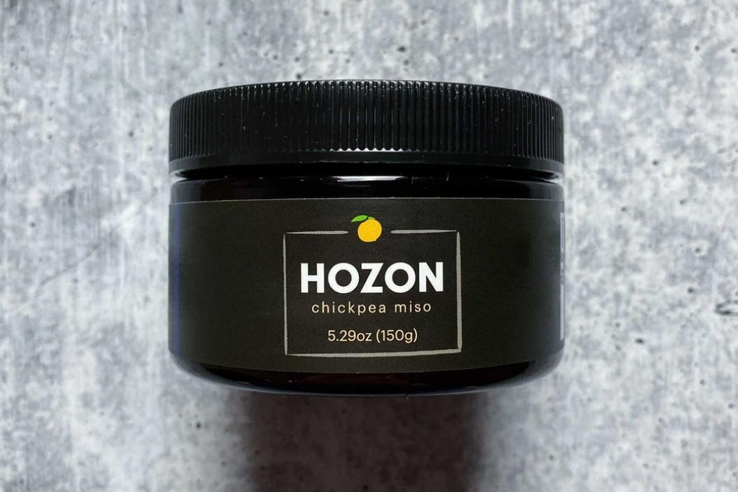 a container of hozon chickpea miso