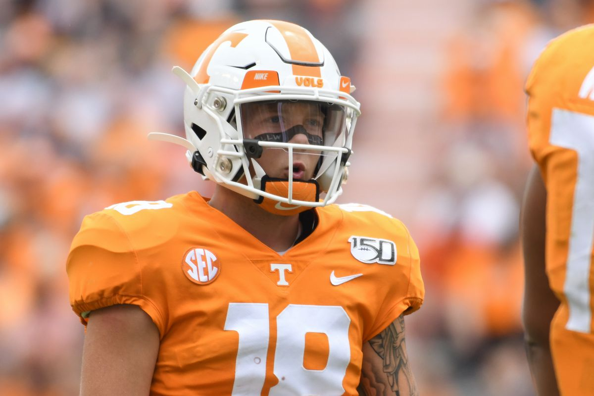 reputable site 62e3d fc4b0 Vols Football: Tennessee benches Guarantano to open 2nd half ...