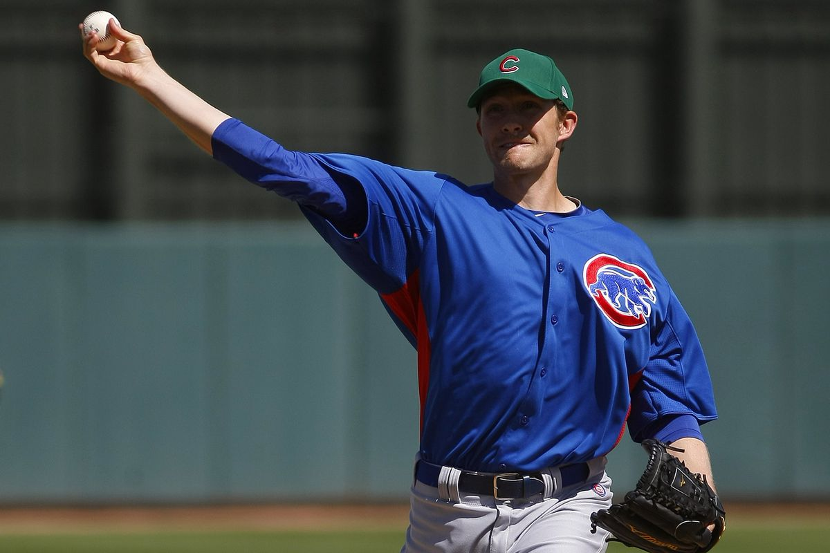 """Scott Baker throws a baseball (pictured) then turns to Chris Antonetti and says """"Yep, you were right."""" (not pictured)"""