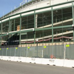 10:05 a.m. The south end of the ballpark, along Addison Street -