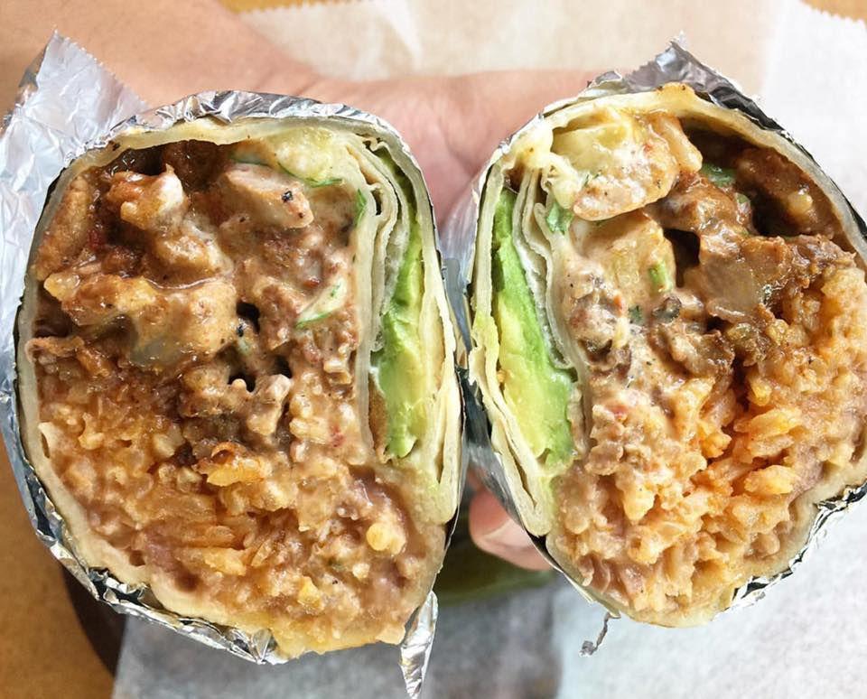 Pastor burrito from Jalisco Taqueria
