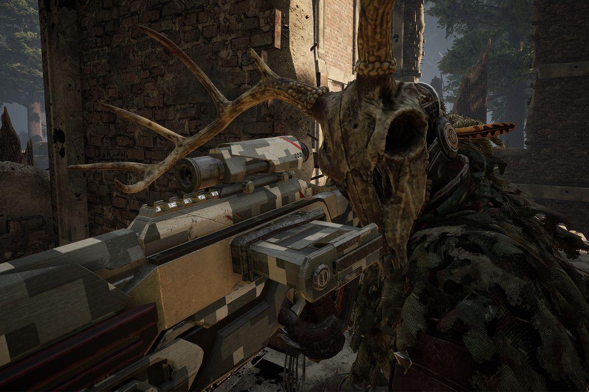 Deathgarden: Bloodharvest - the Stalker aims her weapon