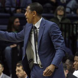 UConn head coach Kevin Ollie during the Columbia Lions vs UConn Huskies men's college basketball game at Gampel Pavilion in Storrs, CT on November 29, 2017.
