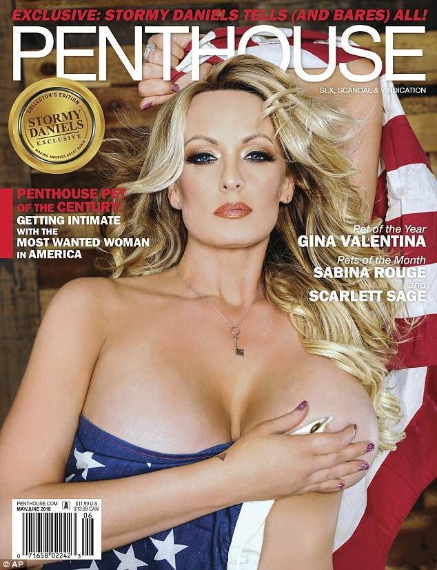 Stormy Daniels on the May-June 2018 cover of Penthouse