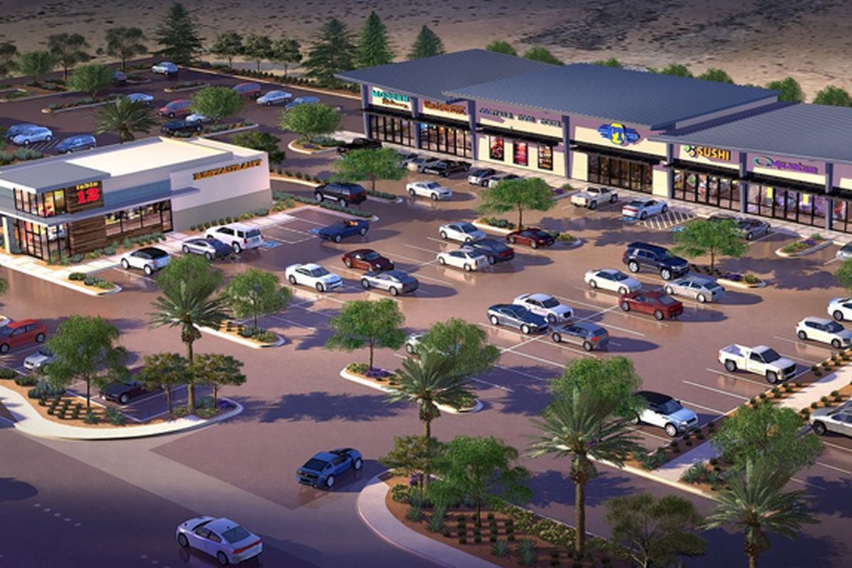 Buffalo and Warm Springs retail center rendering