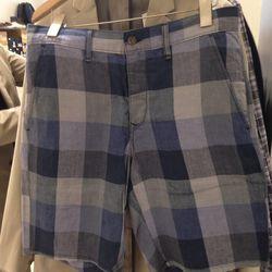 [Men's] Rag & Bone checkered shorts, $77
