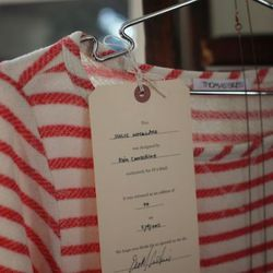 The boat-necked top Thomas Sires made for Of a Kind
