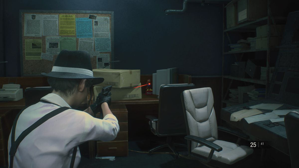 Resident Evil 2 Mr. Raccoon STARS Office location