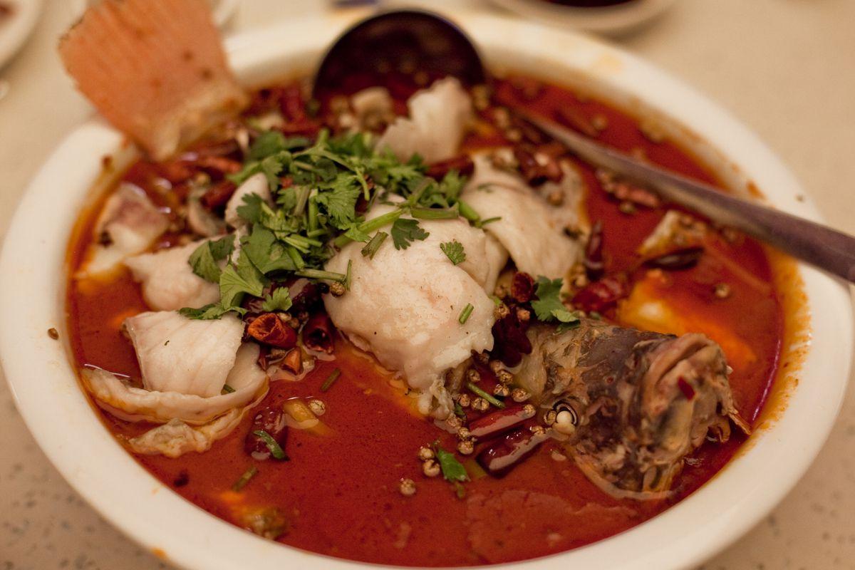Flaming Kitchen fish hot pot