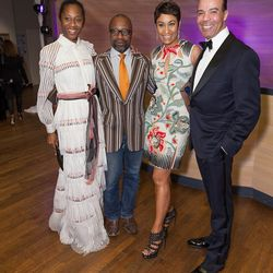 Curator at the Museum of Contemporary Art, Chicago Naomi Beckwith, artist Theaster Gates, Johnson Publishing Company Chief Executive Officer Desiree Rogers, Neiman Marcus representative Morris Gearring