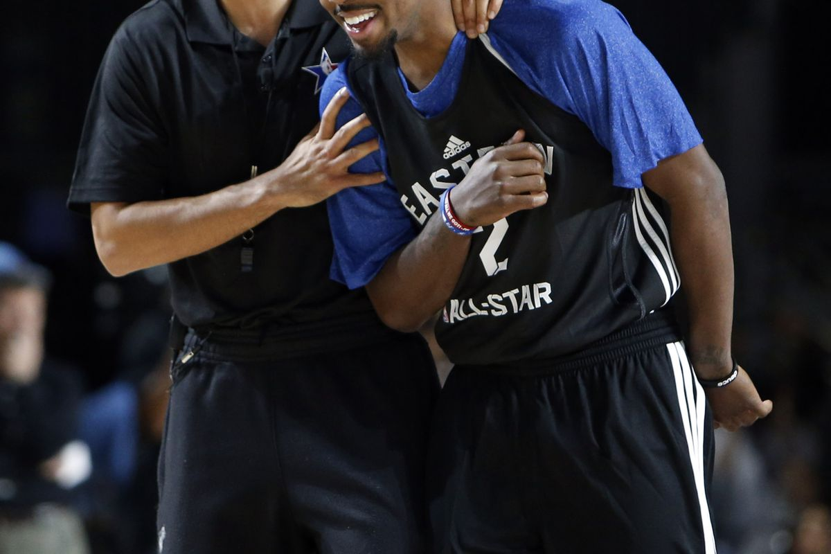 Erik Spoelstra and Kyrie Irving