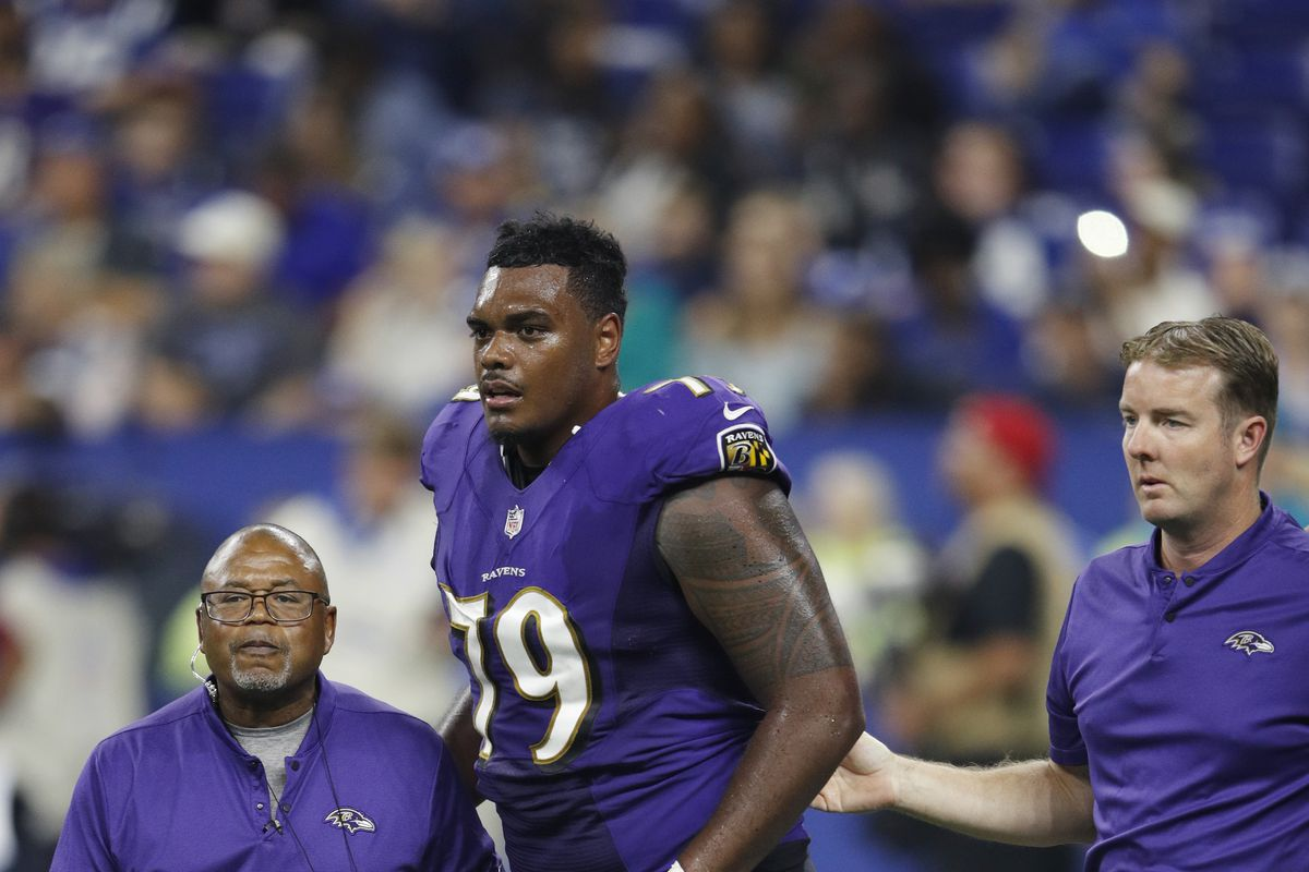 Ravens injury report  4 offensive linemen held out of practice - Baltimore  Beatdown 2e1dfdb63493