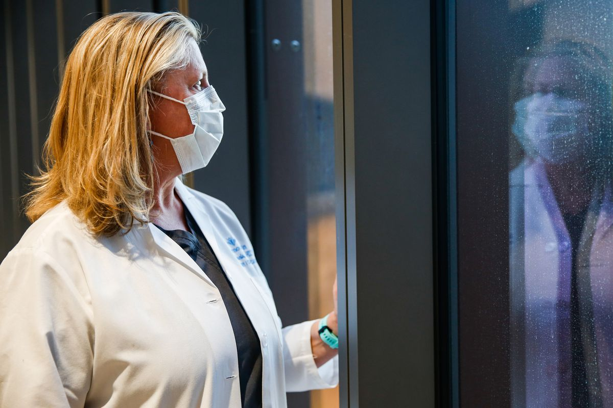 Dr. Dixie Harris poses for a portrait at the Intermountain Healthcare Transformation Center in Murray on Saturday, Nov. 14, 2020.