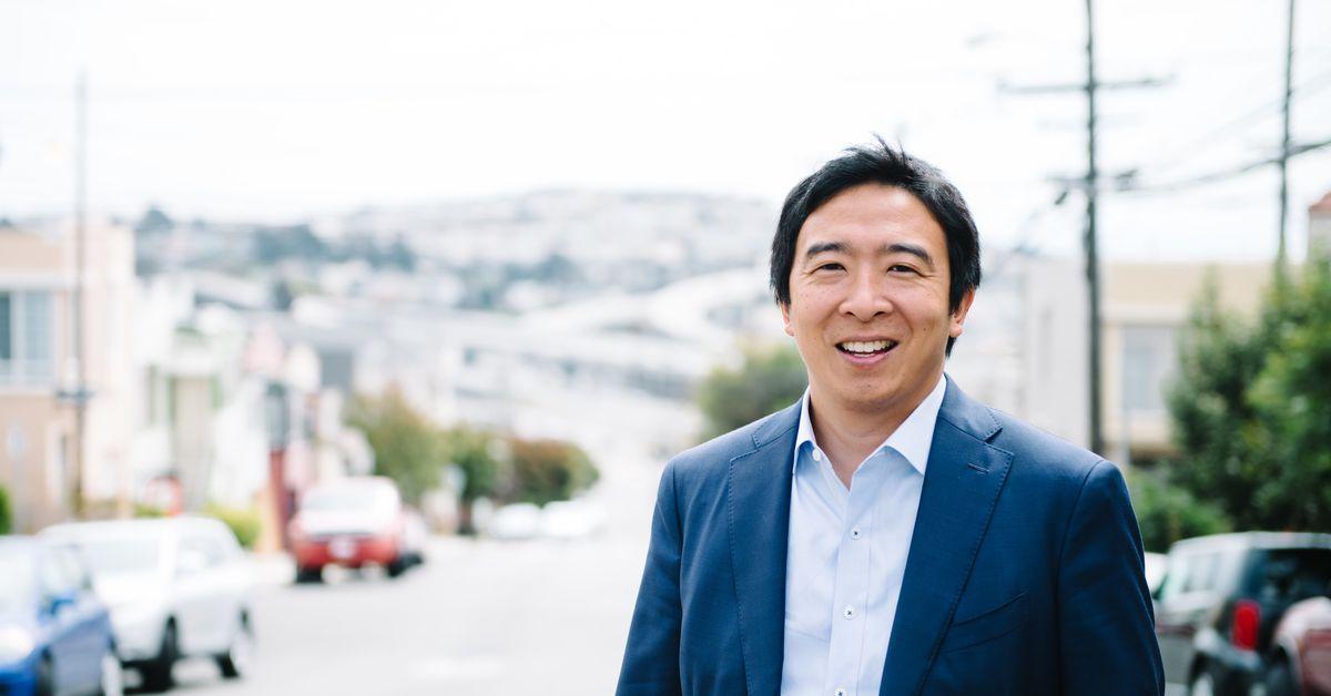 Presidential candidate Andrew Yang on social-media ... Andrew Yang